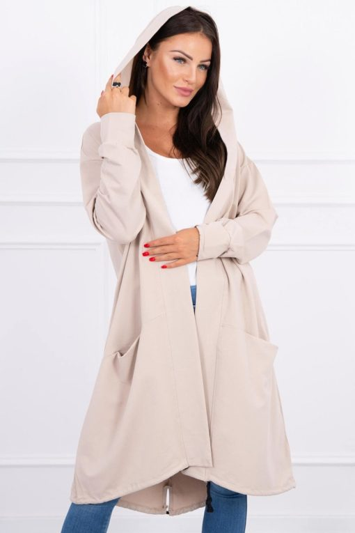 Eng Pl Cape With A Hood Oversize Beige