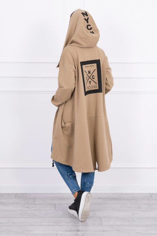 Eng Pl Cape With A Hood Oversize Camel