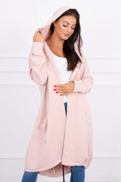 Eng Pl Cape With A Hood Oversize Dark Powdered Pink