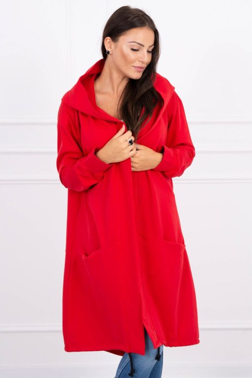 Eng Pl Cape With A Hood Oversize Red