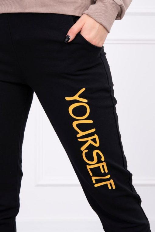 Eng Pl Set With Print Yourself Mustard Black